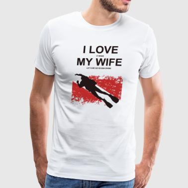 Scuba love my wife - Men's Premium T-Shirt
