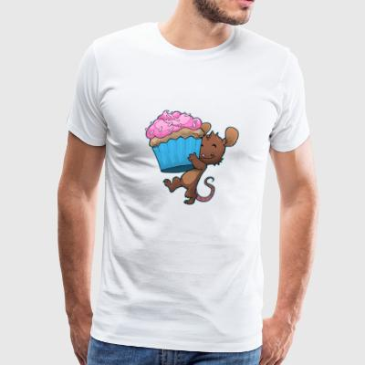 mouse food cupcake cute kids birthday - Men's Premium T-Shirt
