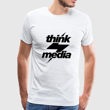 Think Media BnW - Men's Premium T-Shirt