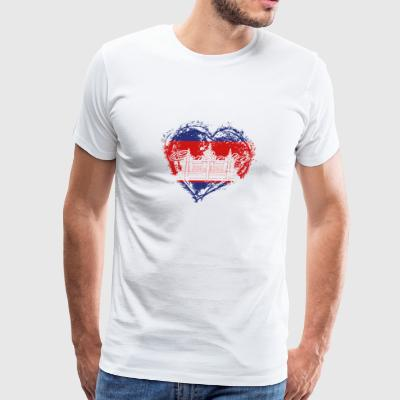 HOME ROOTS COUNTRY GIFT LOVE Cambodia - Men's Premium T-Shirt