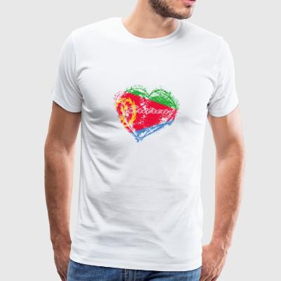 HOME ROOTS COUNTRY GIFT LOVE Eritrea - Men's Premium T-Shirt