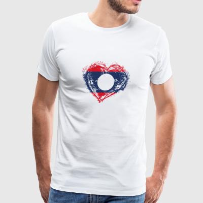 HOME ROOTS COUNTRY GIFT LOVE Laos - Men's Premium T-Shirt