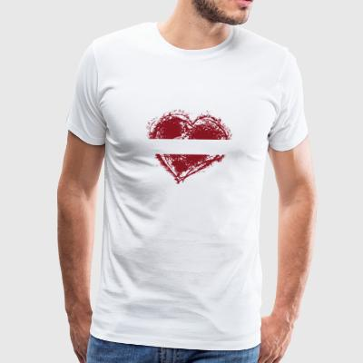 HOME ROOTS COUNTRY GIFT LOVE Latvia - Men's Premium T-Shirt