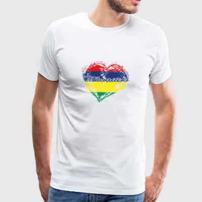 HOME ROOTS COUNTRY GIFT LOVE Mauritius - Men's Premium T-Shirt