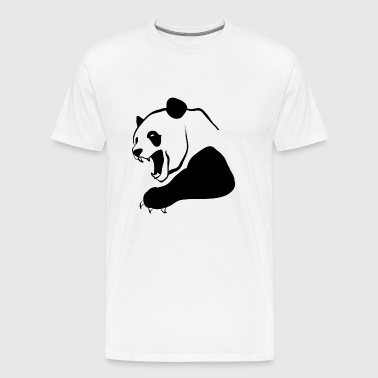 Emblem panda shape bear animal wildlife cool image - Men's Premium T-Shirt
