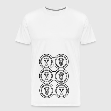 Six-pack Cans / Beer - Men's Premium T-Shirt