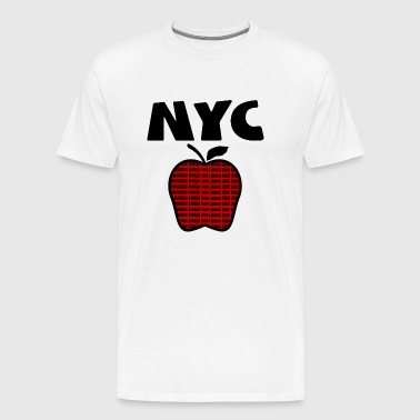 NYC With Big Apple And 5 Boroughs--DIGITAL DIRECT PRINT ONLY - Men's Premium T-Shirt