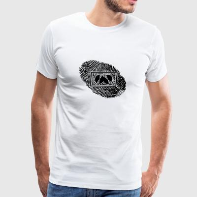 fingerabdruck dns dna geschenk TECHNO DJ ELECTRO - Men's Premium T-Shirt