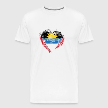 HOME ROOTS COUNTRY GIFT LOVE Antigua barbuda - Men's Premium T-Shirt