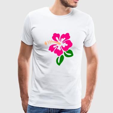 Hawaiian Flower - Men's Premium T-Shirt