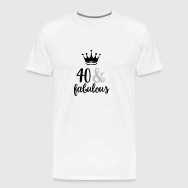 40 & fabulous - Men's Premium T-Shirt