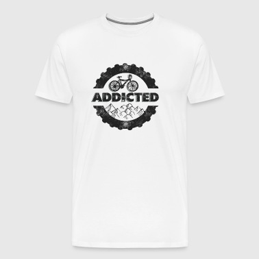 Bicycle Mountain Biking Addicted - Men's Premium T-Shirt