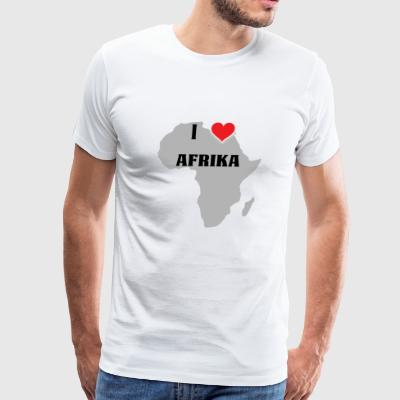 I love AFRIKA - Afro for life - Men's Premium T-Shirt