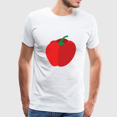 paprika pepper veggie vegetables gemuese2 - Men's Premium T-Shirt