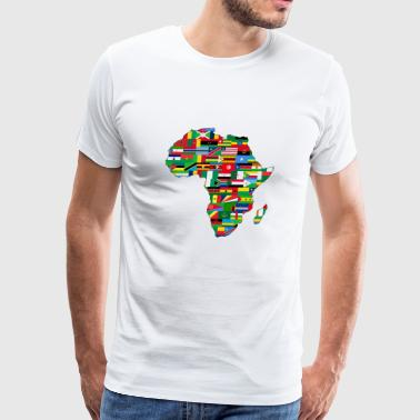 Africa Map - Men's Premium T-Shirt