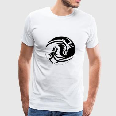 Dragon Yin Yang - Men's Premium T-Shirt
