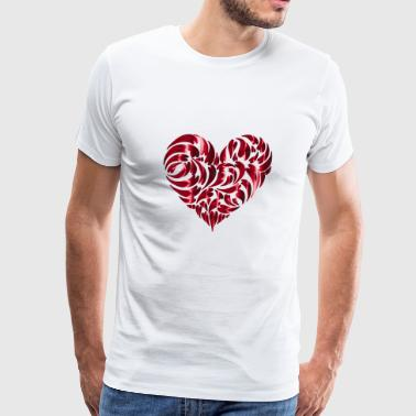 i love you ich liebe dich valentines day heart her - Men's Premium T-Shirt