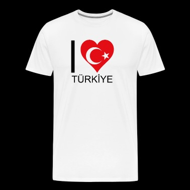 I love Turkey your favorite country - Men's Premium T-Shirt