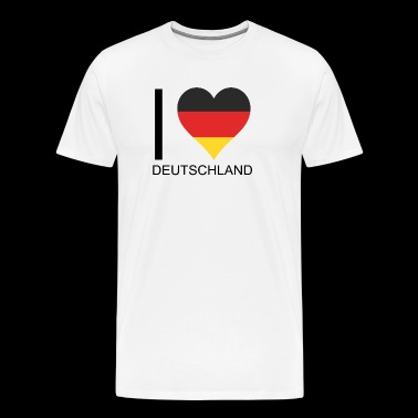 I Love Germany perfect for football - Men's Premium T-Shirt