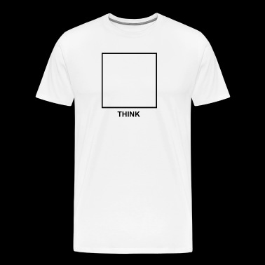 think outside the box (black) - Men's Premium T-Shirt