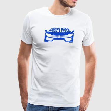 Blue Super Sports Car - Men's Premium T-Shirt