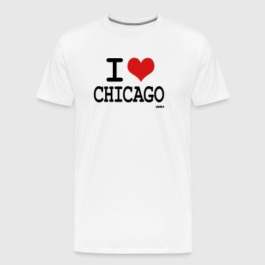 i love chicago by wam - Men's Premium T-Shirt