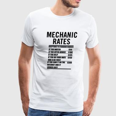 Mechanic Labour Rates - Men's Premium T-Shirt