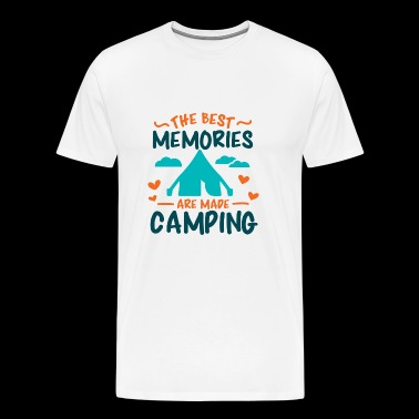 The best memories are made camping - Men's Premium T-Shirt