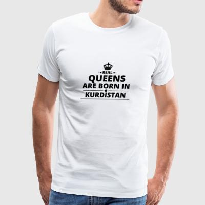 geschenk love queens are born KURDISTAN - Men's Premium T-Shirt