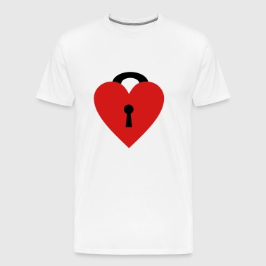 locked heart - Men's Premium T-Shirt
