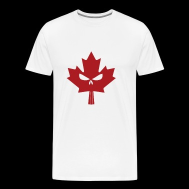 Canadian Maple Skull Red - Men's Premium T-Shirt