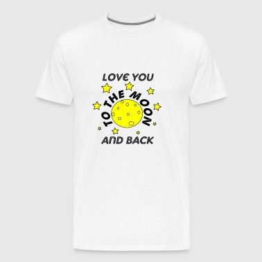 love you to the moon and back - Men's Premium T-Shirt