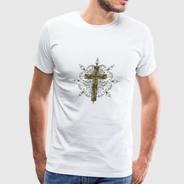 Abstract cross cool vector image cartoon drawing - Men's Premium T-Shirt