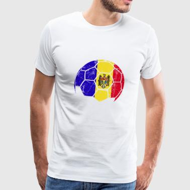 Romania Soccer Football Ball - Men's Premium T-Shirt