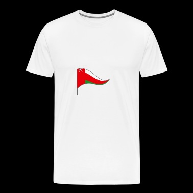 Oman Muscat Arabian Flag Banner Flags Ensigns - Men's Premium T-Shirt