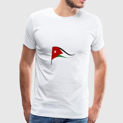 Jordan Amman Flag Banner Flags Ensigns - Men's Premium T-Shirt