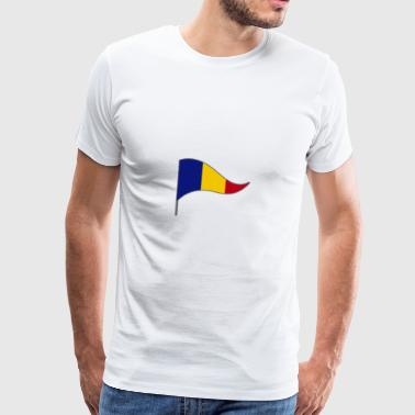 Romania Bucharest Europe Flag Banner Flags Ensign - Men's Premium T-Shirt