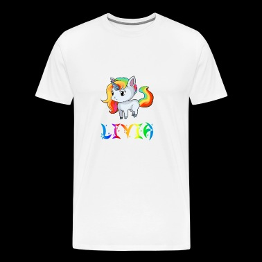 Livia Unicorn - Men's Premium T-Shirt