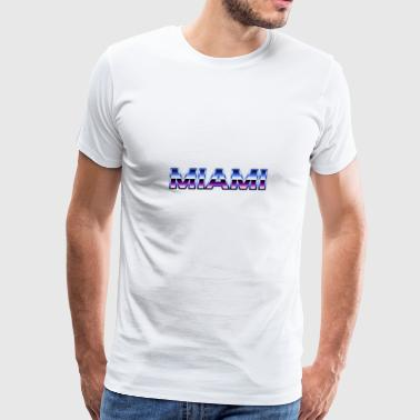 80s Style Miami - Men's Premium T-Shirt