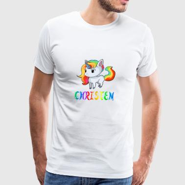Christen Unicorn - Men's Premium T-Shirt