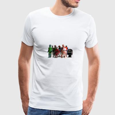 9 Star Wars Action Figures - Men's Premium T-Shirt