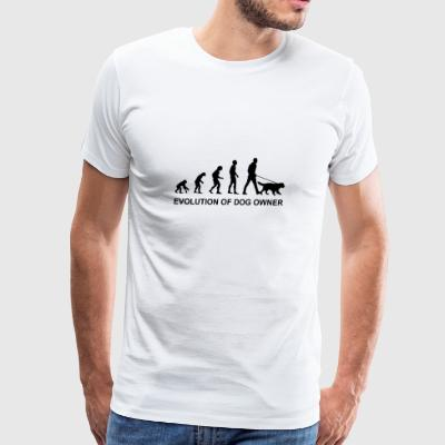 Evolution of Dog owner - Men's Premium T-Shirt