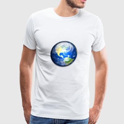 Solar system, earth - Men's Premium T-Shirt