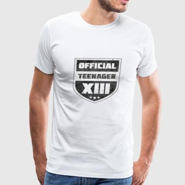 Official Teenager XIII 13th Birthday Teenager Gift - Men's Premium T-Shirt