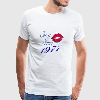 Sexy since 1977 Birthday Gift Year girlfriend - Men's Premium T-Shirt