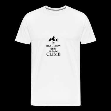 Climbing - Climber - Hobby - Gift - Mountains - Men's Premium T-Shirt