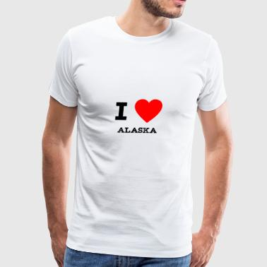 i love Alaska - Men's Premium T-Shirt