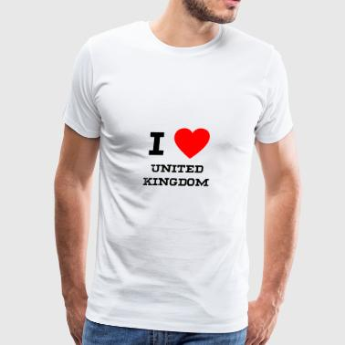 i love United Kingdom - Men's Premium T-Shirt