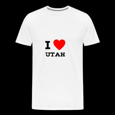 i love Utah - Men's Premium T-Shirt