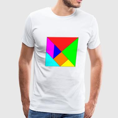 tangram origami basteln falten japan china1 - Men's Premium T-Shirt